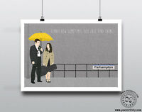 HOW I MET YOUR MOTHER - Minimalist Farhampton Quote Poster HIMYM Posteritty Art