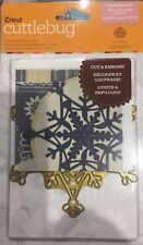 Cuttlebug Anna Griffin 1pc Cut & Emboss Die 'Snowflake Solo' Christmas Themed