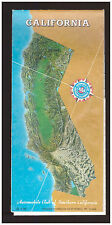 AAA Map 1989 CA California The Golden State Los Angeles San Francisco Fresno..