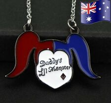 HARLEY QUINN Daddy's Lil Monster Suicide Squad Pendant Necklace AUSSIE Seller