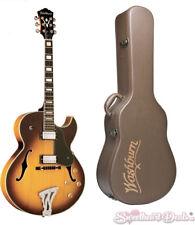 Washburn Jazz Hollow Body J3TSK Electric Guitar - Tobacco Sunburst w/Free Case