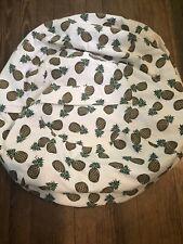 Lukeight XL Pineapple Print Canvas Beanbag Cover Stuffed Animal Storage