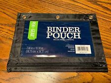 Pen + Gear Binder Pouch 7.38 In X 10.38 In Nylon Pouch 3-Ring Black
