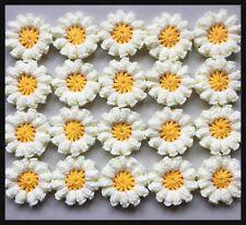 20 x NUOVA Handmade Crochet Fiori in Giallo