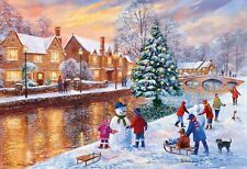 Gibsons Bourton At Christmas Jigsaw Puzzle (500 Pieces)