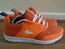 Lacoste Sport light 1 runner MS trainers sneaker orange uk 4 eu 37 us 6 NEW+TAGS