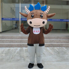 Bullfighting Cow Mascot Costume Suits Cosplay Party Game Outfits Adults Hallowee