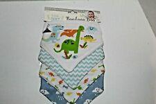 Baby bibs, Lebebe favorite Bandana bibs, new, boy, dinosaur