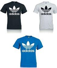 T SHIRT Uomo Donna Trefoil Maglia con logo Adidas Trefoil Maglietta 100% Cotone