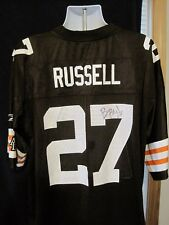 Brian Russell Cleveland Browns Signed Autographed Reebok Jersey VHTF Mint