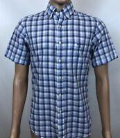 Men Gant Shirt Malibu Heather Poplin Short Sleeves Cotton Casual Size S MCA115