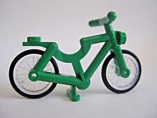 Lego GREEN BICYCLE for Minifigures CITY Town Bike