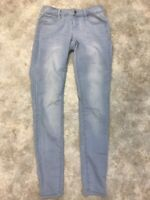Decree Women's Blue Light Wash Cotton Blend Stretch Denim Skinny Jeans Sz 1