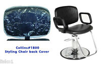 Styling Chair Back Cover (Collins 1800 Salon Styling Chair) Clear Vinyl