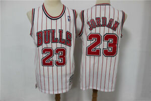 Men Michael Jordan jersey #23 jersey white red stripe limited edition jersey