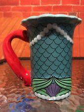 Authentic Disney Parks Ariel Little Mermaid Signature Collection Ceramic Mug Cup