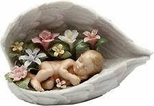 Nice Ceramic Baby in Guardian Angel's Wings Figurine