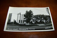 Rare Vintage RPPC Real Photo Postcard Grade School Minneapolis Kansas 1953