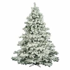 Vickerman Flocked Alaskan Unlit Christmas Tree, 6.5 ft.