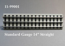 "MTH STANDARD GAUGE REALTRAX 14"" STRAIGHT TRACK Lionel Tinplate 11-99001 NEW"