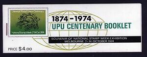 MINT 1974 UPU CENTENARY BOOKLET NATIONAL STAMP WEEK EXHIBITION MUH