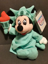 The Disney Store Bean Bag Plush Minnie Mouse as Statue of Liberty