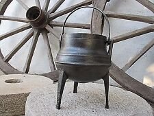 Vintage Cast Iron Cooking Gypsy Small Strong Pot Cauldron Ready To Cook 1 Litre