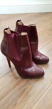 Christian Louboutin Burgundy Boots Platform Size 37.5 UK 4.5