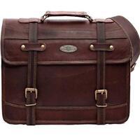 """15"""" Vintage Men Leather Business Briefcase Messenger Bag Travel Luggage Bag"""