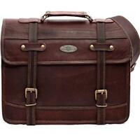 Genuine Classic Leather Bag Business Briefcase Laptop Shoulder Messenger Satchel