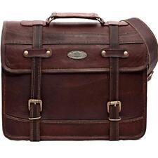 """15"""" Vintage Briefcase Satchel Soft Leather Laptop Messenger Bag Shoulder Men New"""