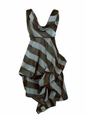 Kelly Ewing Maisie Striped Cowl  Neck Asymmetric Dress. UK 8. VGC!