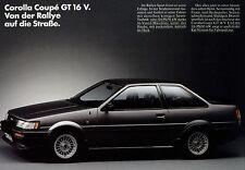 Toyota Corolla Coupé GT 16V Prospekt 1985 1 Bl Autoprospekt Broschüre brochure