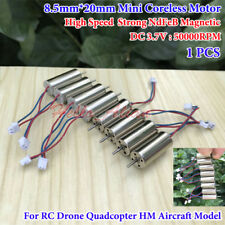 DC 3.7V 50000RPM High Speed 8.5*20mm Micro Coreless Motor RC Drone Quadcopter