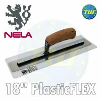 "NELA PlasticFLEX Trowel 18"" x 4.3"" with BiKo Cork Grip Handle 10814511BK"