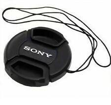 55mm Center-Pinch Snap-On Front Lens Cap with Cord for Sony