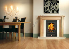 13kw.Woodburning Stove Insert Inset Modern Multifuel Built in Fireplace Prity VM