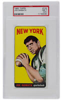 Joe Namath 1965 Topps #122 New York Jets Card PSA NM 7 (OC)