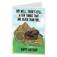 Funny 70th Birthday Card 70 Today Him Her Men Women Perfect For Mum & Dad