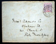 """Rare Zululand Cover #16 Shaved """"Z"""" Variety tied OCT 12 1894 Eshowe"""