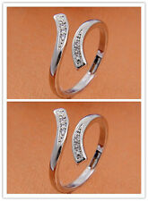 Opening Adjustable New Design Jewelry Hot Fashion Silver Lady Ring Finger
