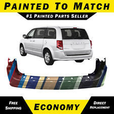 NEW Painted To Match- Rear Bumper Cover 2011-2015 Dodge Grand Caravan 68125724AA