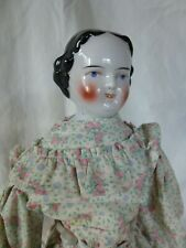 "12""  CHINA HEAD GERMAN DOLL - Vintage with GREAT HAIRDO and DRESS"