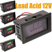 LED 12V Digital Display Voltmeter Motorcycle Electromobile Voltage Gauge Meter