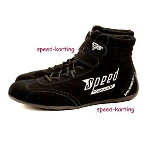 "Speed Estándar Zapatos de Kart negro ""San Remo KS-1"" Karting Go-Kart Motor sport"