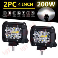 "2X 4"" CREE LED Work Light Bar Cube Pods Flood Driving Lamp For Jeep Truck SUV GZ"