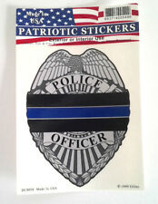 THIN BLUE LINE POLICE OFFICER  Law Enforcement Window Decal DC0058