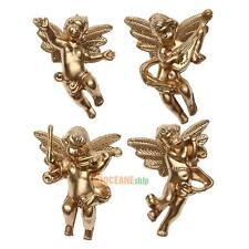4pcs/set Resin Christmas Tree Decor Angel Performer Xmas Party Pendant Ornament