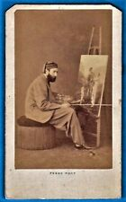 vintage cdv photo occupational artist painter at work peintre Paris France 1860