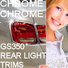 Lexus GS350 GS 350 Rear Tailight Chrome Bezel Trims Covers 06 07 08 09 10 11 12